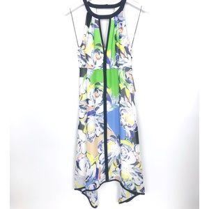 Adrianna Papell Floral Dress 2 Sleeveless Midi New